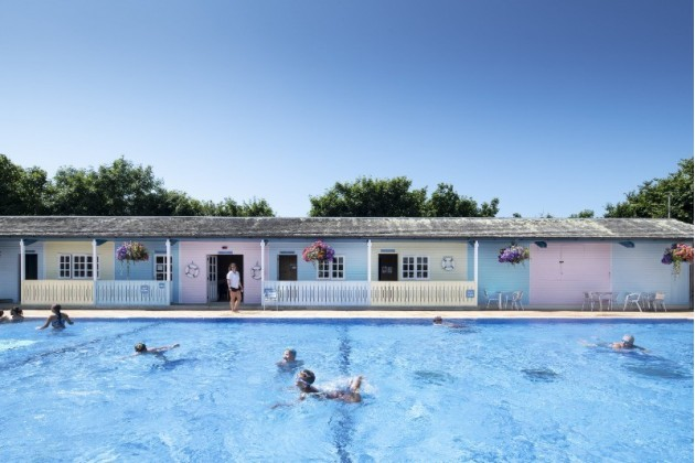 Heated Outdoor Swimming Pool at Trevornick Holiday Park