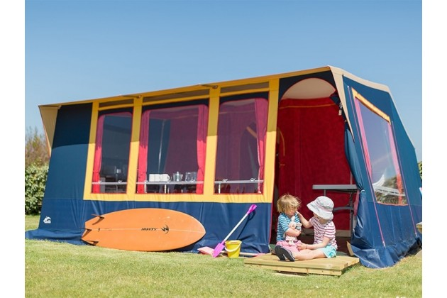 Pre-Pitched Eurotent at Trevornick Holiday Park