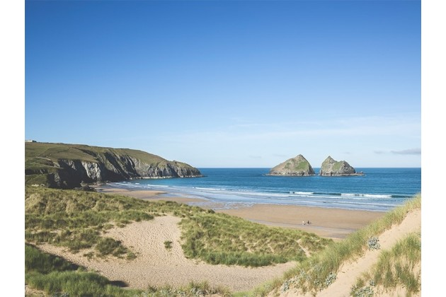 Holywell Bay Beach, 15 min Walk from Trevornick Holiday Park