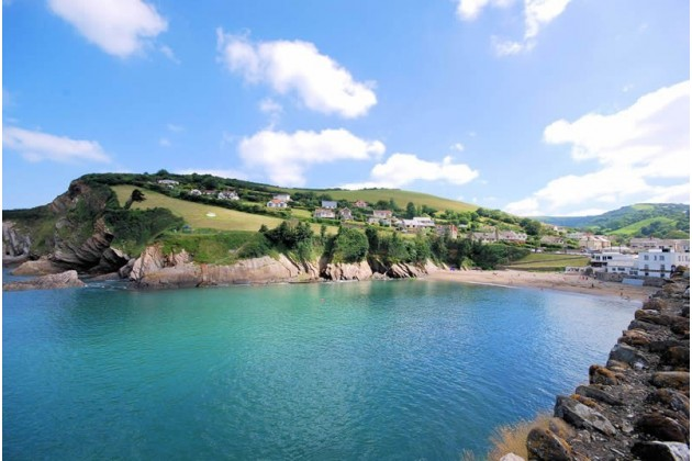 View from Newberry Beach towards Combe Martin