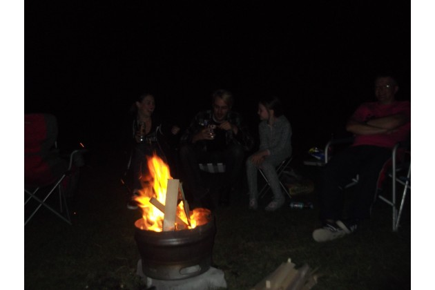 Chatting round the campfire