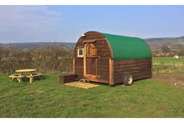 Our Executive shepherd's hut!
