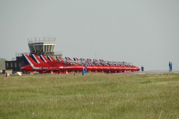Red Arrows at RAF Valley