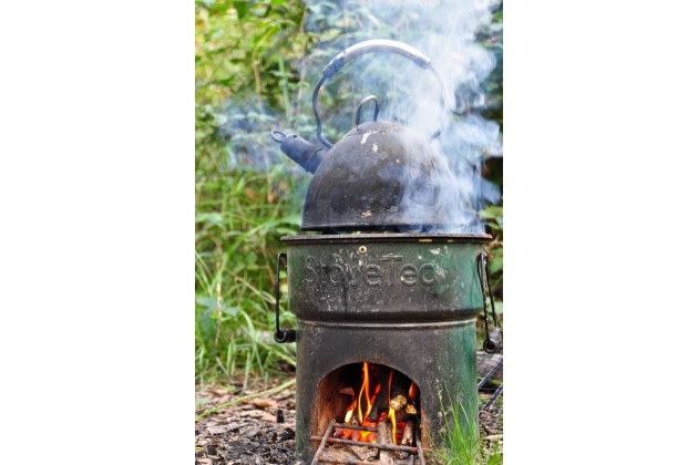 Eco stoves at our woodland campsite