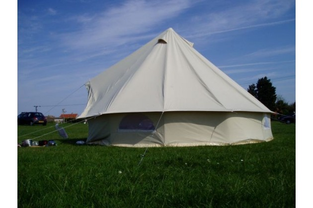 Bell tents are always welcome at Deepdale Backpackers & Camping