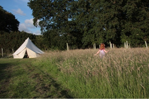 Picturesque Bell Tent on the pitch