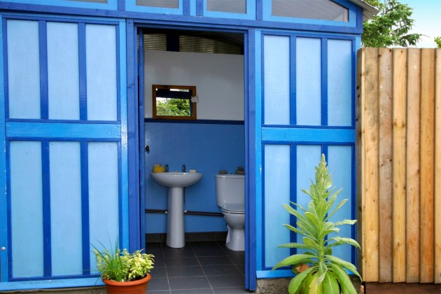 Private Bathroom off Monty's yurt