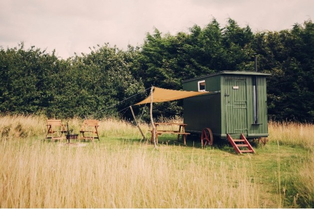 Furnished shepherd's hut