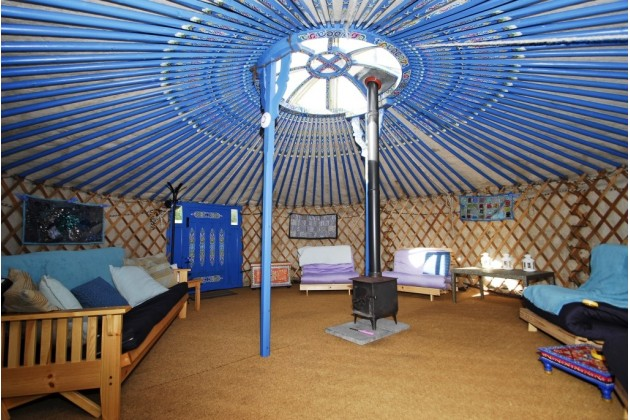 Mellow ambience of SHIVA yurt