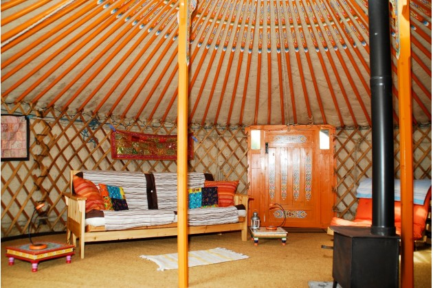 cosy architecture of SHAKTI yurt