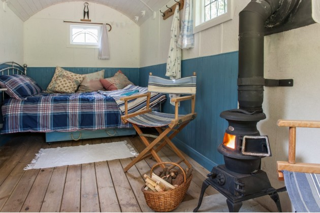 Shepherd Hut glamping, Devon