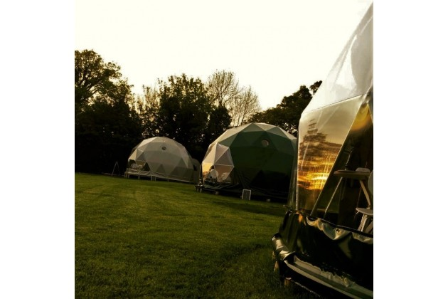 Glamping Nature Domes at Top of the Woods - perfect to watch a stunning Welsh sunset!