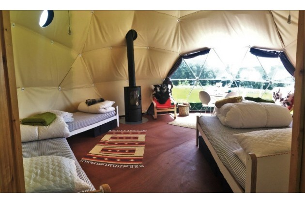 Glamping Nature Domes at Top of the Woods - Sit back, relax and enjoy the views. Watch the birds foraging in the meadows
