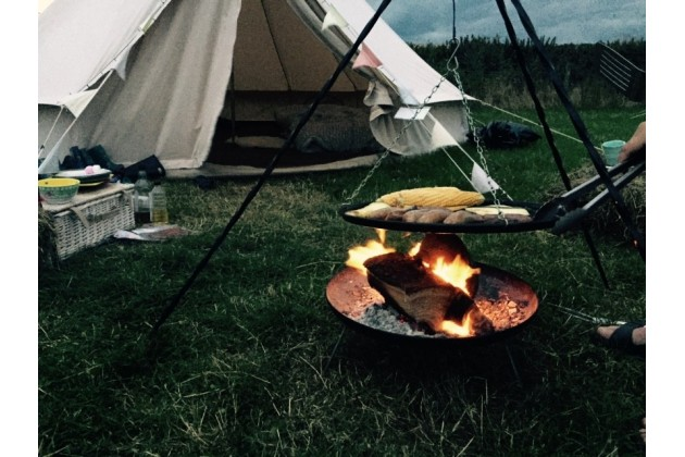 Glamping with fires