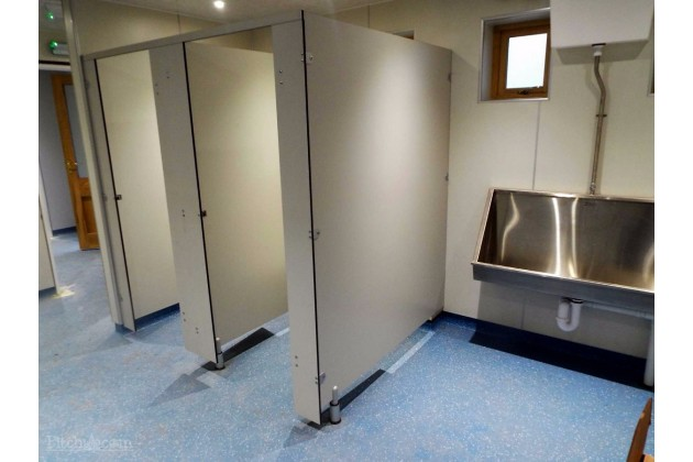 top of the range toilet and shower facilities