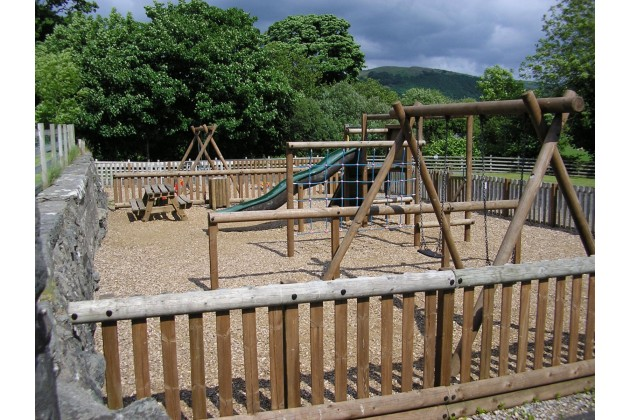 enclosed playground