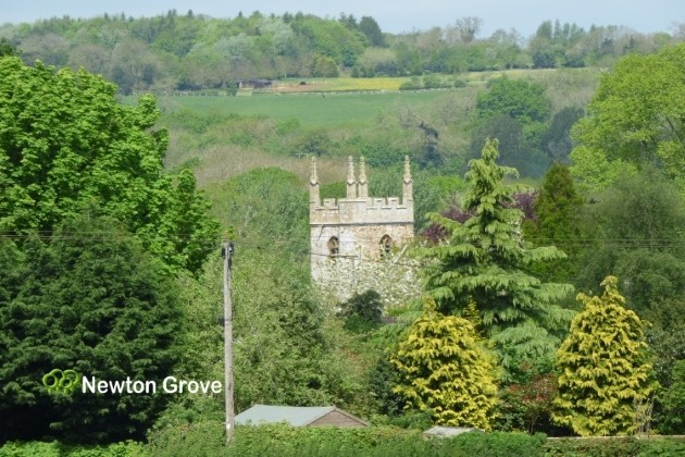 South Newington Church from site