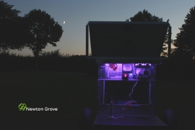 Newton Grove Solar Unit at Night